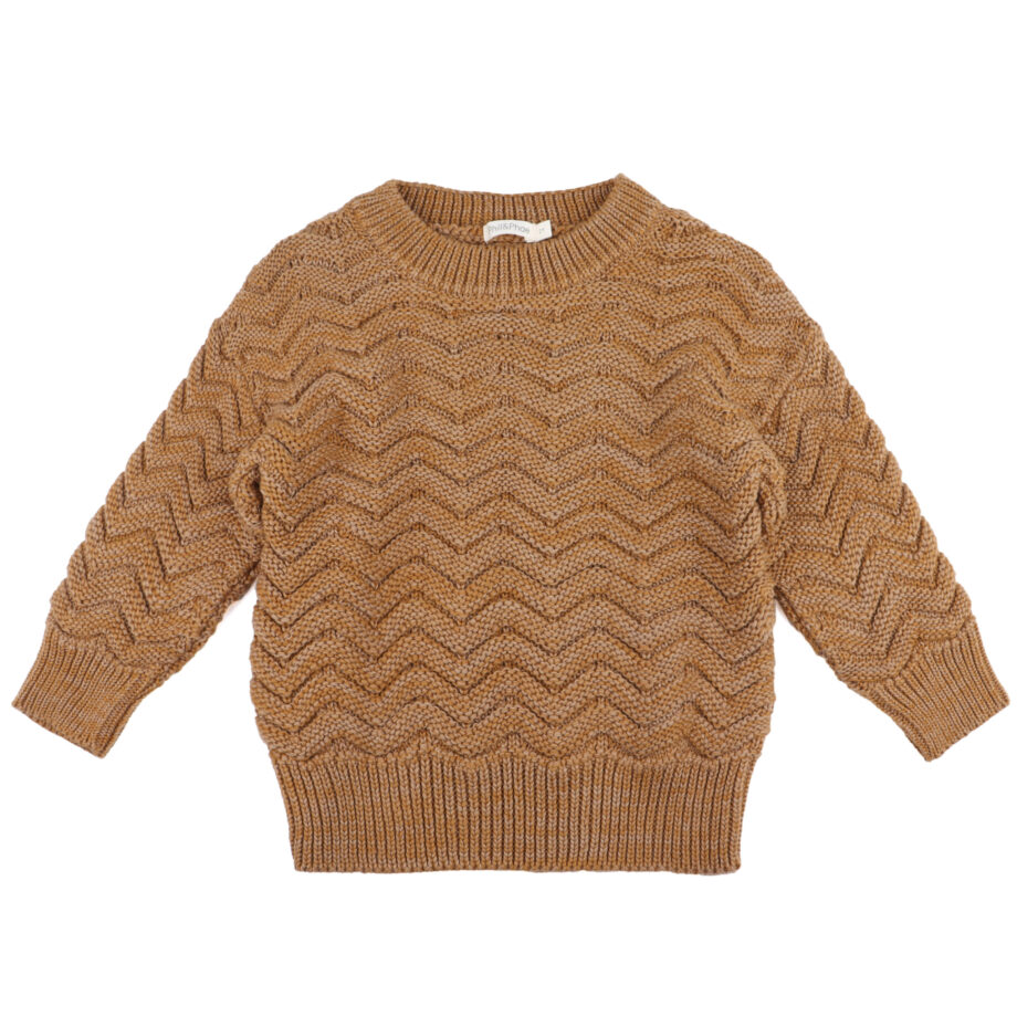 SS20-Chevron-knit-Sweater-Antique-brass-melange
